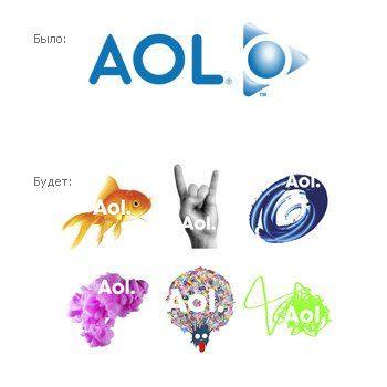 новый логотип AOL