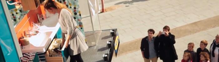 ikea креативная реклама париж