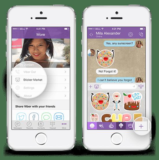 viber вибер бесплатные наклейки на iphone
