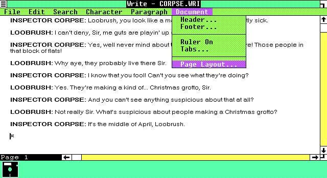windows редактор write 1986