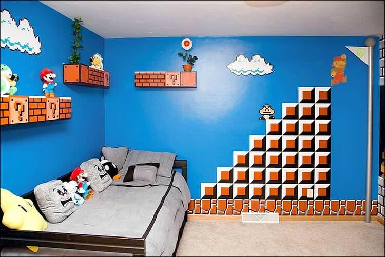 super mario комната