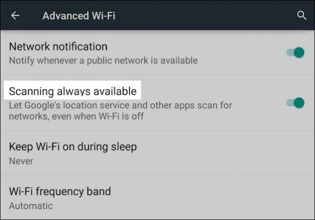 google maps wifi settings