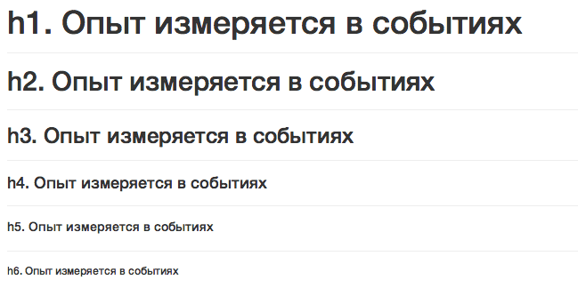 bootstrap заголовки headings