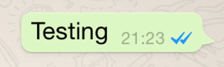 две голубых галочки в whatsapp