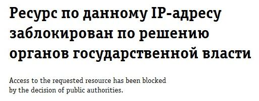 блокировка сайтов в России