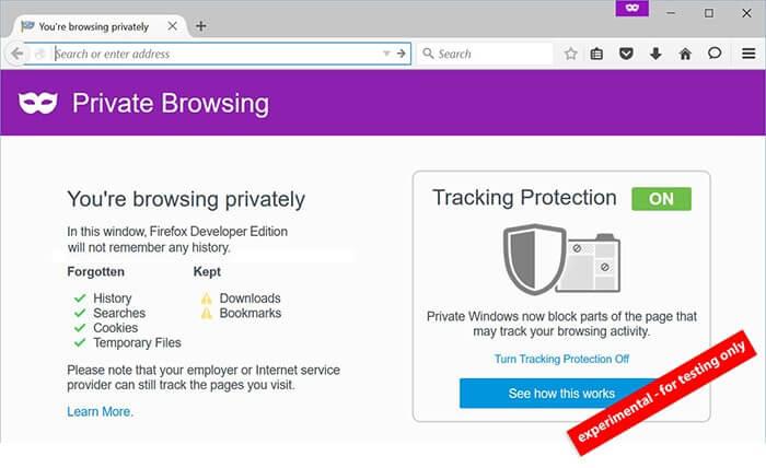 Браузер Firefox идет к полной анонимности