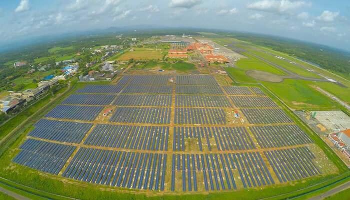 Индийский аэропорт полностью перешел на солнечную энергию