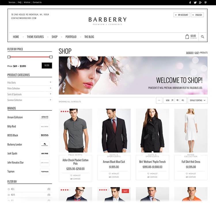 barberry шаблоны wordpress для интернет-магазинов