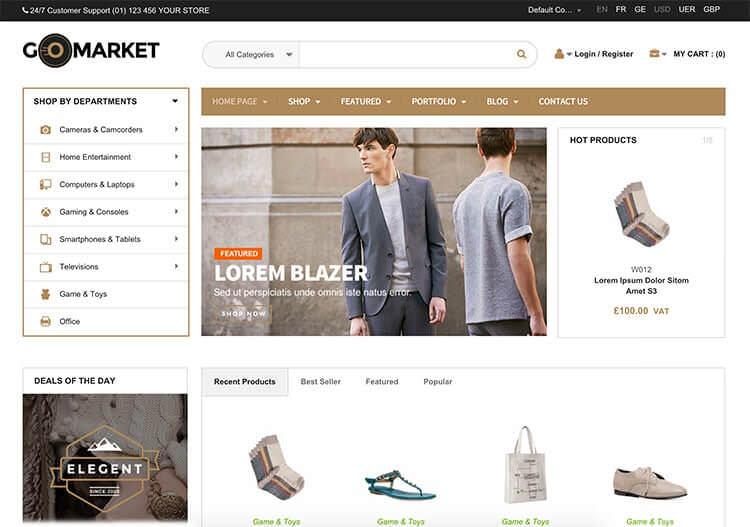 gomarket шаблоны wordpress для интернет-магазинов