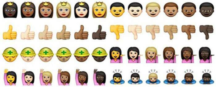 whatsapp чорні смайли