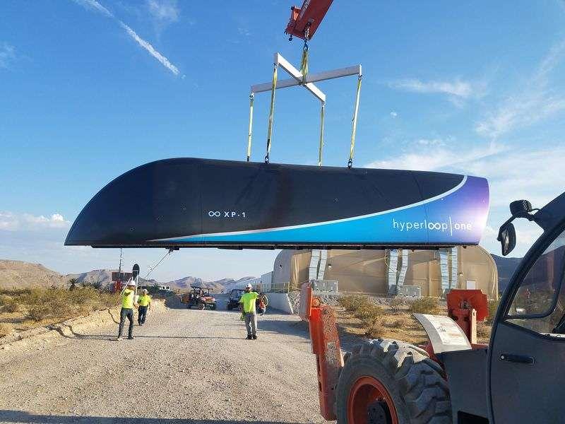 В США вдало випробували вакуумну транспортну систему «Hyperloop One»