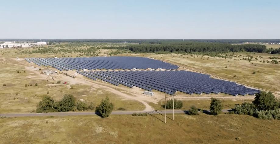У Київській області запрацювала сонячна електростанція потужністю 6 МВт