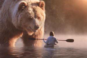 Життя Австралійський художник створює картини, де люди живуть поруч із величезними тваринами австралія мистецтво