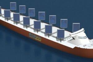 Технології Японці розробили вітрила, що заряджають акумулятори корабля від вітру та сонця енергетика новина транспорт японія