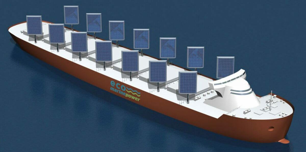 Японці розробили вітрила, що заряджають акумулятори корабля від вітру та сонця
