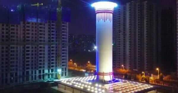У Китаї запустили найбільший у світі очищувач повітря