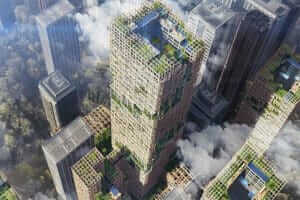 Життя В Японії збудують 350-метровий дерев'яний хмарочос, найвищий у світі Будівництво екологія новина японія
