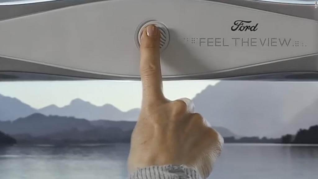 Незрячі в авто зможуть «бачити» краєвид через нове вікно із шрифтом Брайля