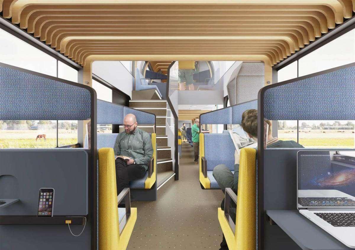 У Нідерландах розробили залізничні вагони для офісної роботи
