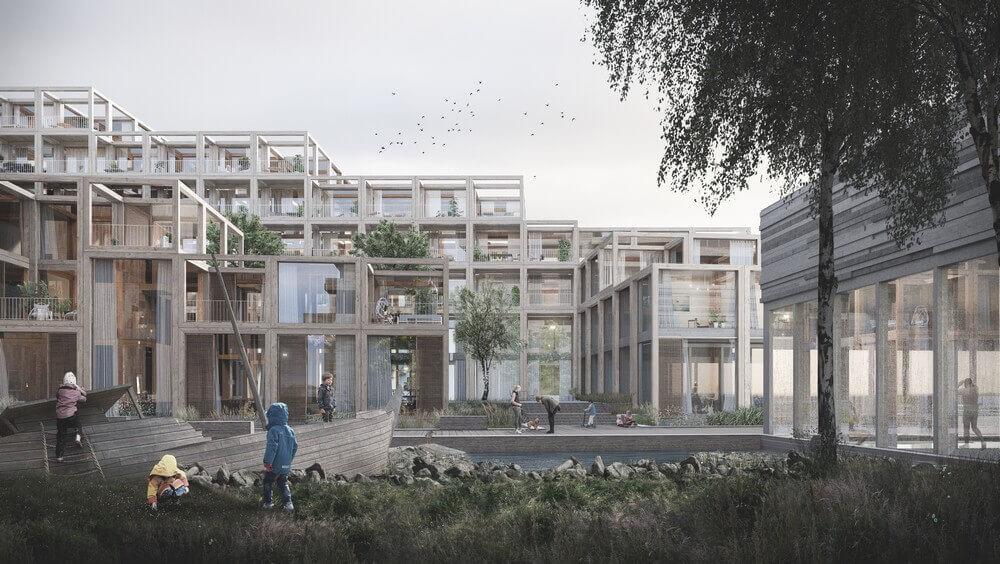 У Копенгагені збудують еко-село з переробленого бетону, дерева та скла