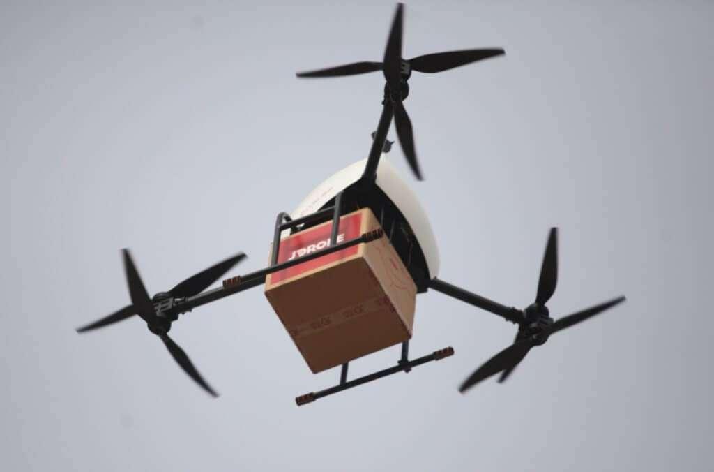 Китайська компанія вперше здійснила доставку дроном в Індонезії