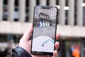 Інтернет Google використає доповнену реальність для навігації в картах google смартфони
