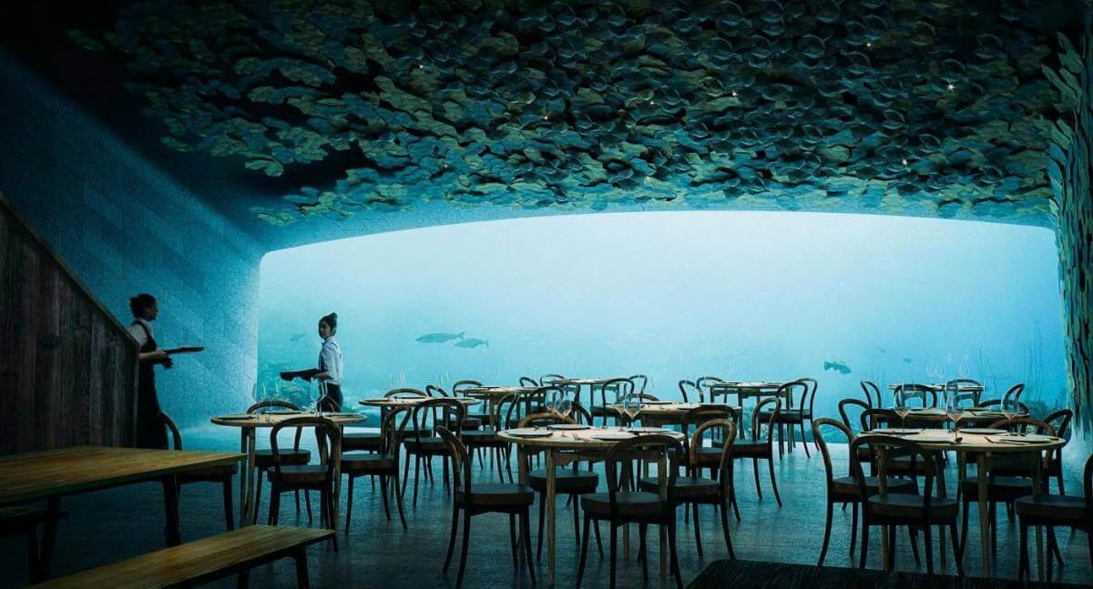 У Норвегії побудували перший у світі ресторан під водою