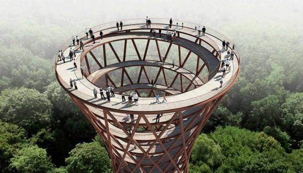 У данському лісі з'явився 45-метровий оглядовий майданчик, що не має жодної сходинки