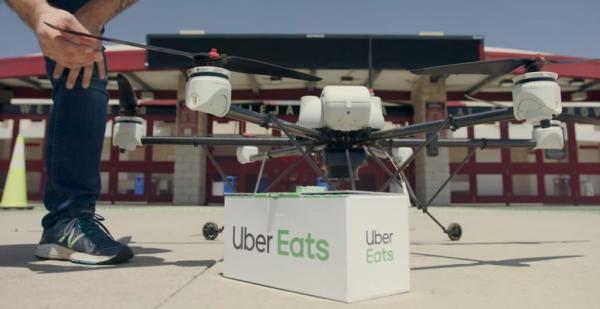 Компанії Uber офіційно дозволили доставляти їжу дронами