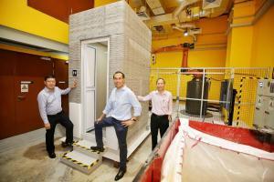 Технології Нова технологія 3D-друку дозволяє надрукувати приміщення вбиральні за 10 годин новина Організація роботи Сінгапур у світі
