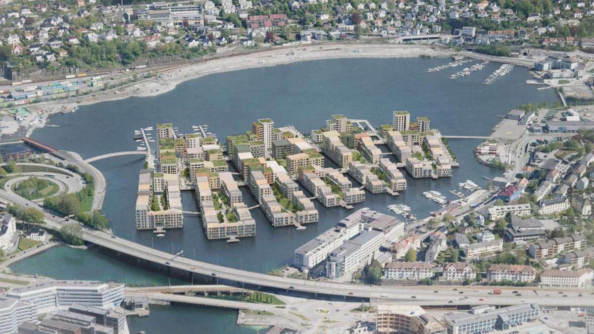 Посеред норвезького озера побудують житловий район на 1,5 тис. будинків