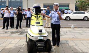 Технології У китайському Ханьдані показали роботів-поліціянтів безпека кнр новина Організація роботи поліція роботи у світі