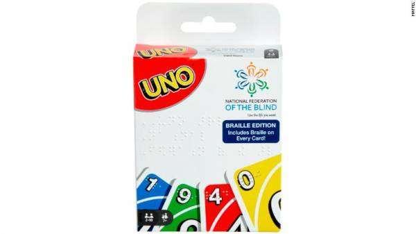 UNO Braille – варіант відомої карткової гри для людей з вадами зору