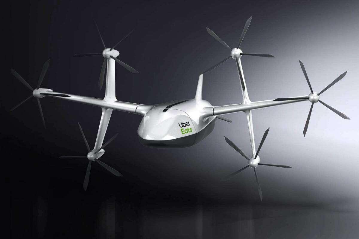 Uber Eats планує доставляти їжу дронами