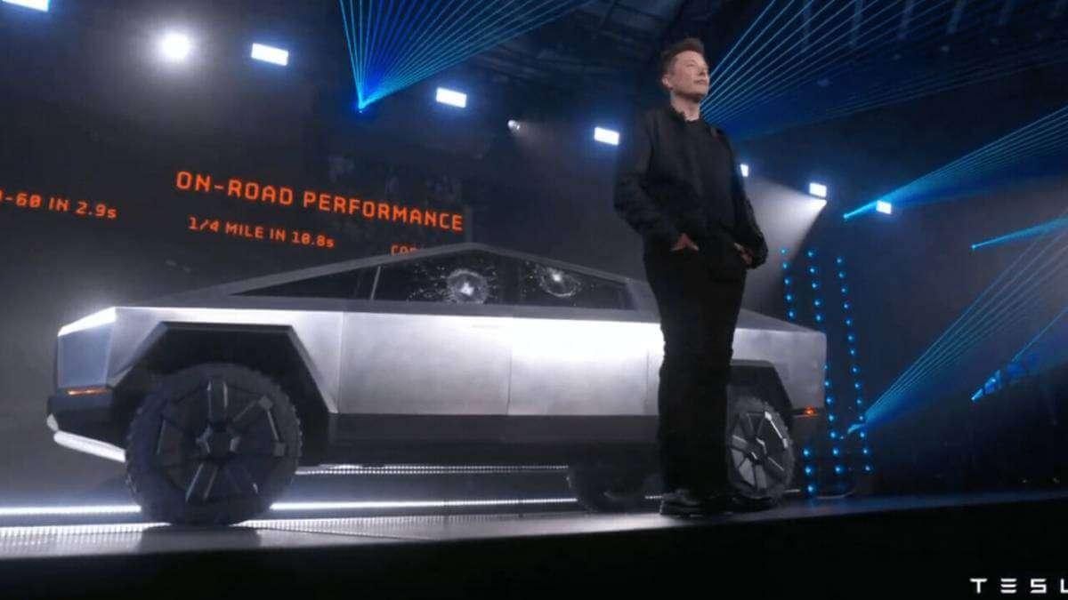 Ілон Маск на презентації Tesla Cybertruck