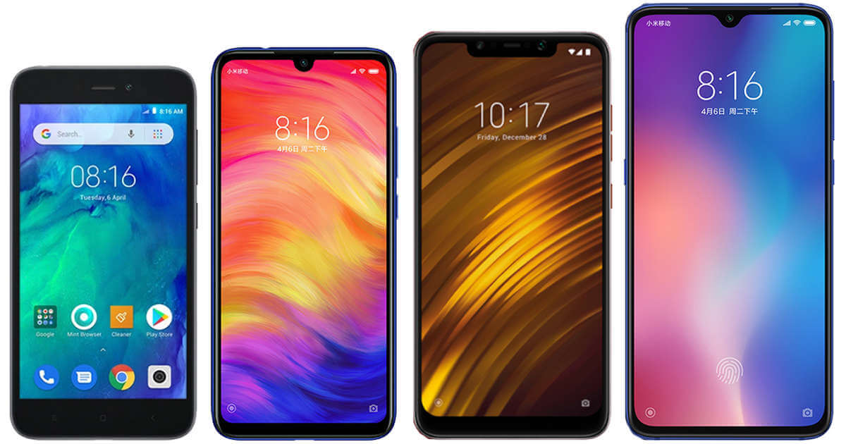 Які смартфони випустила Xiaomi 2019 року