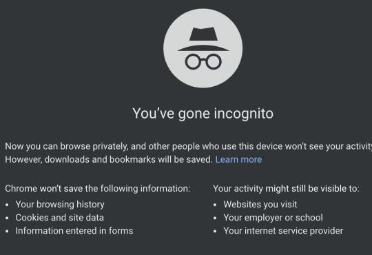 Інтернет Чому не можна довіряти режиму інкогніто в Google Chrome chrome google безпека браузери поради стаття