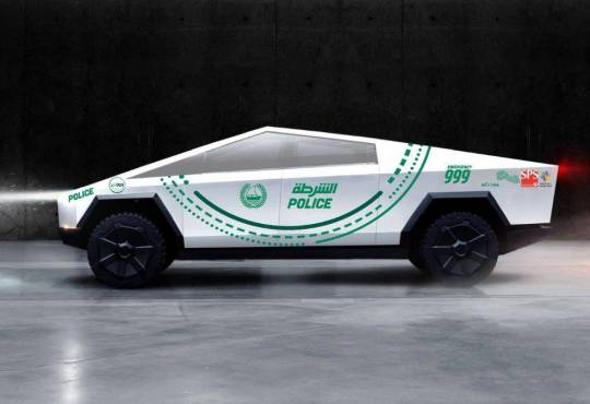 Життя Tesla Cybertruck стане патрульним автомобілем в Дубаї cybertruck tesla безпека електротранспорт ілон маск новина ОАЕ транспорт