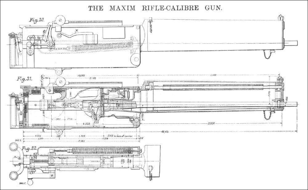 Одне із перших креслень кулемету Максима.