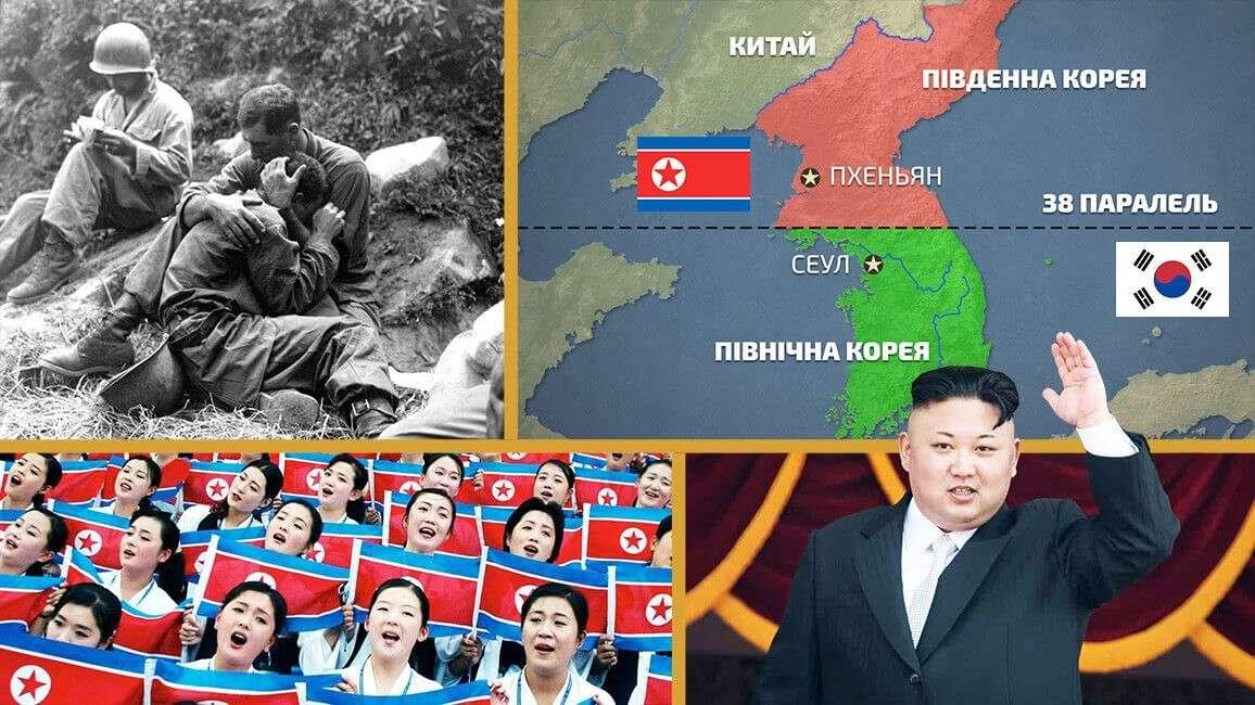 Чому Корея розділена на Північну та Південну (відео)