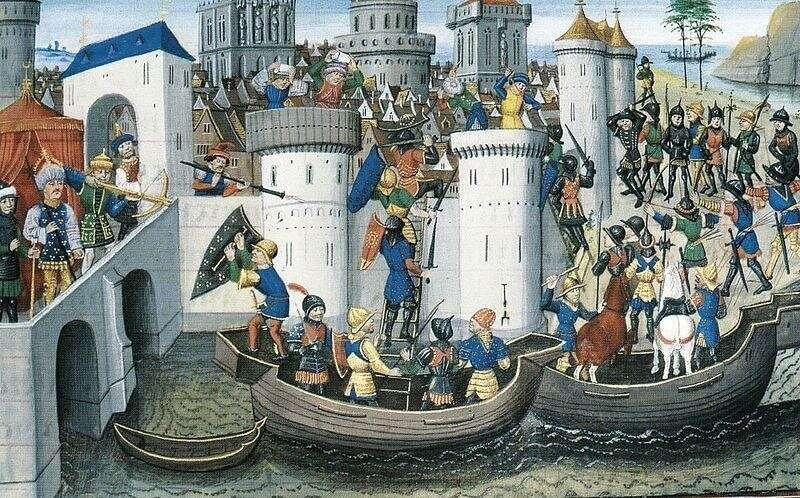 Осада Константинополя, 1204 р. Інстаграм очевидця.