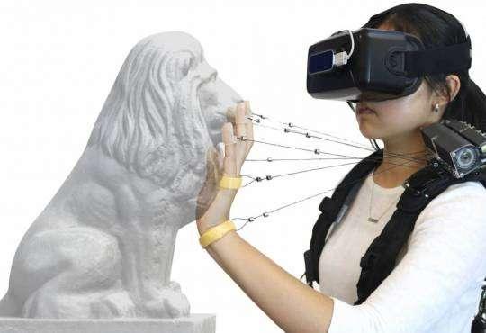 Технології Створено пристрій, що дозволить відчувати дотик у віртуальній реальності віртуальна реальність новина сша