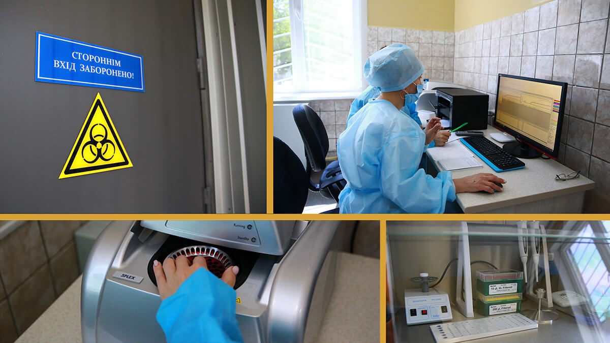 Всередині лабораторії. Як роблять ПЛР-тести на COVID-19 (відео)