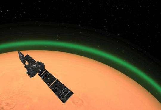 Життя Астрономи вперше зафіксували полярне сяйво на Марсі космос марс новина