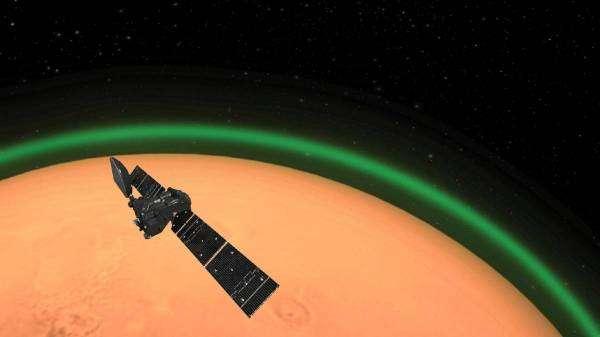 Астрономи вперше зафіксували полярне сяйво на Марсі