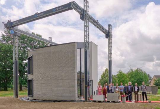 Життя 3D-принтер вперше надрукував двоповерховий будинок 3d бельгія новина у світі