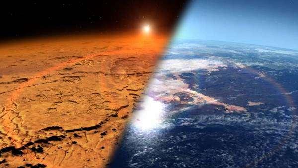 Як виглядав Марс, коли його поверхню ще покривала вода.