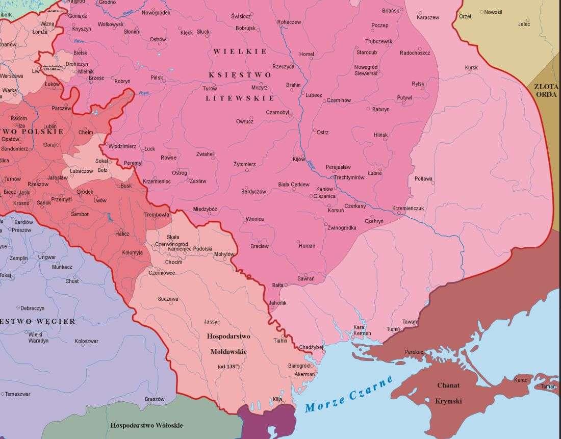 """""""Золотий вік"""" України (закреслено) Речі Посполитої"""