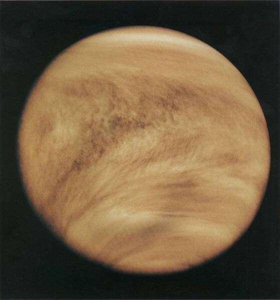 Ультрафіолетова знимка Венери 1979 року. Фото: NASA