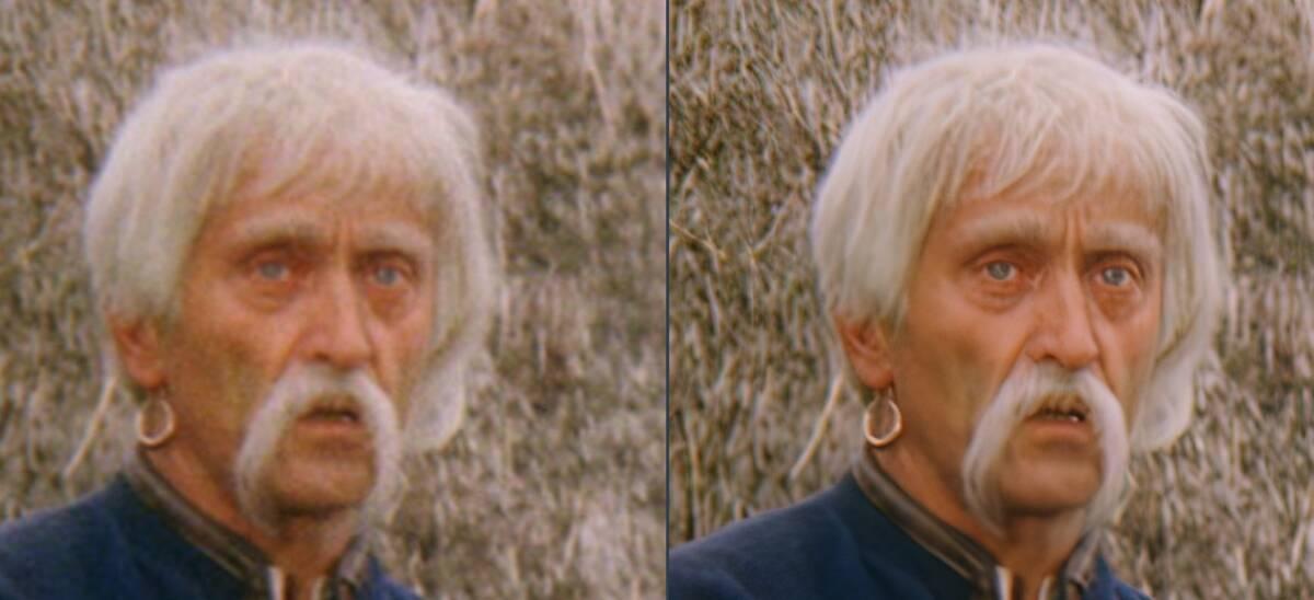Порівняйте якість відео. Ліворуч оригінал, праворуч - цей же фрагмент після обробки